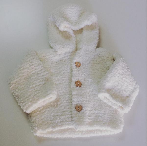 paletot à capuche tricot phildar bébé layette